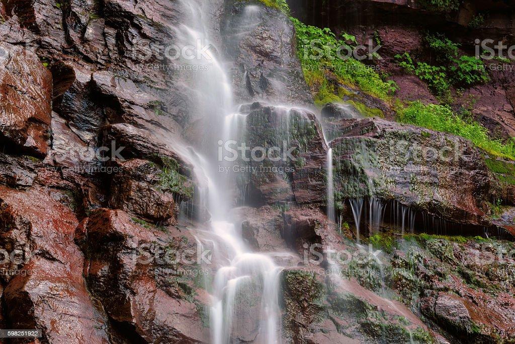 Kaaterskill Falls at summer, Long exposure. stock photo