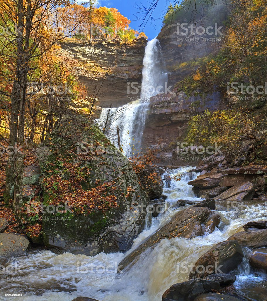 Kaaterskill Falls Autumn HDR stock photo
