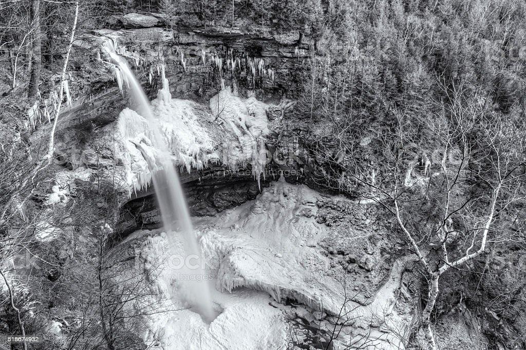 Kaaterskill Falls Frozen Amphitheater stock photo