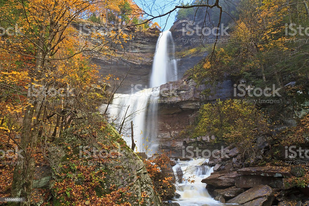 Kaaterskill Falls in Autumn stock photo