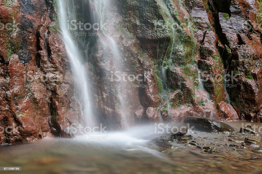 Kaaterskill Falls in Catskills Mountains of New York stock photo