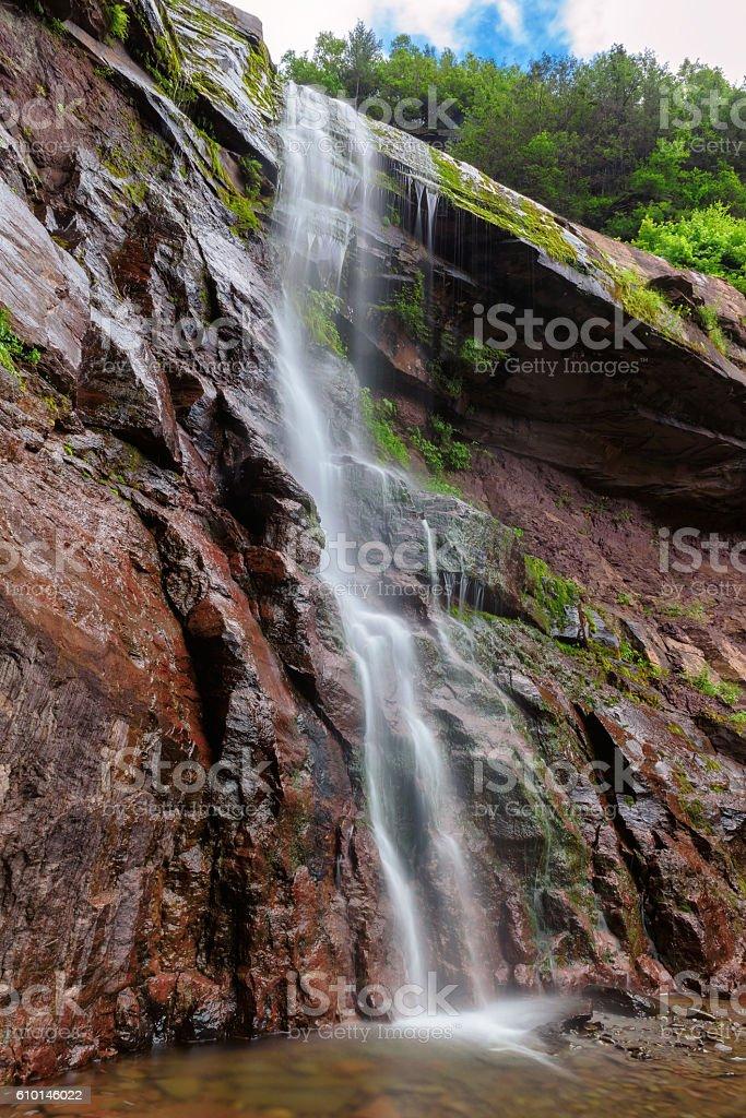 Kaaterskill Falls on Catskills Mountains Park stock photo