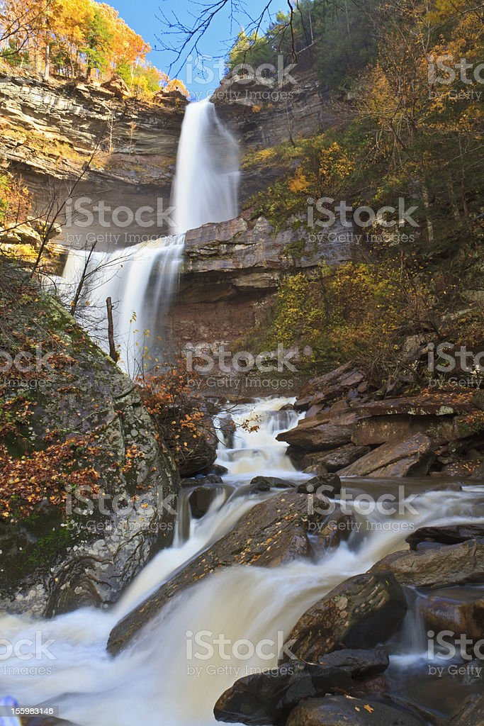 Kaaterskills Falls Blowing in the Wind stock photo