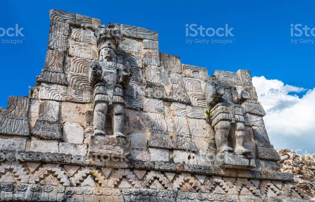 Kabah, Maya archaeological site, Puuc road, Yucatan, Mexico stock photo