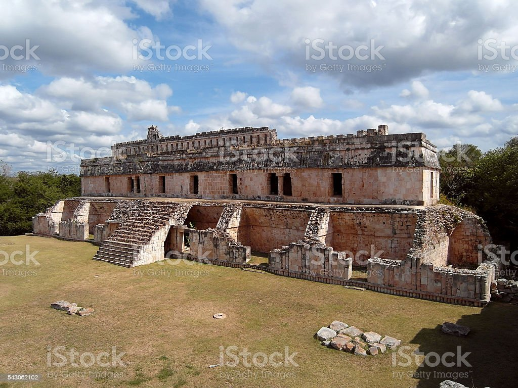 Kabah Mexico , archaeological site stock photo