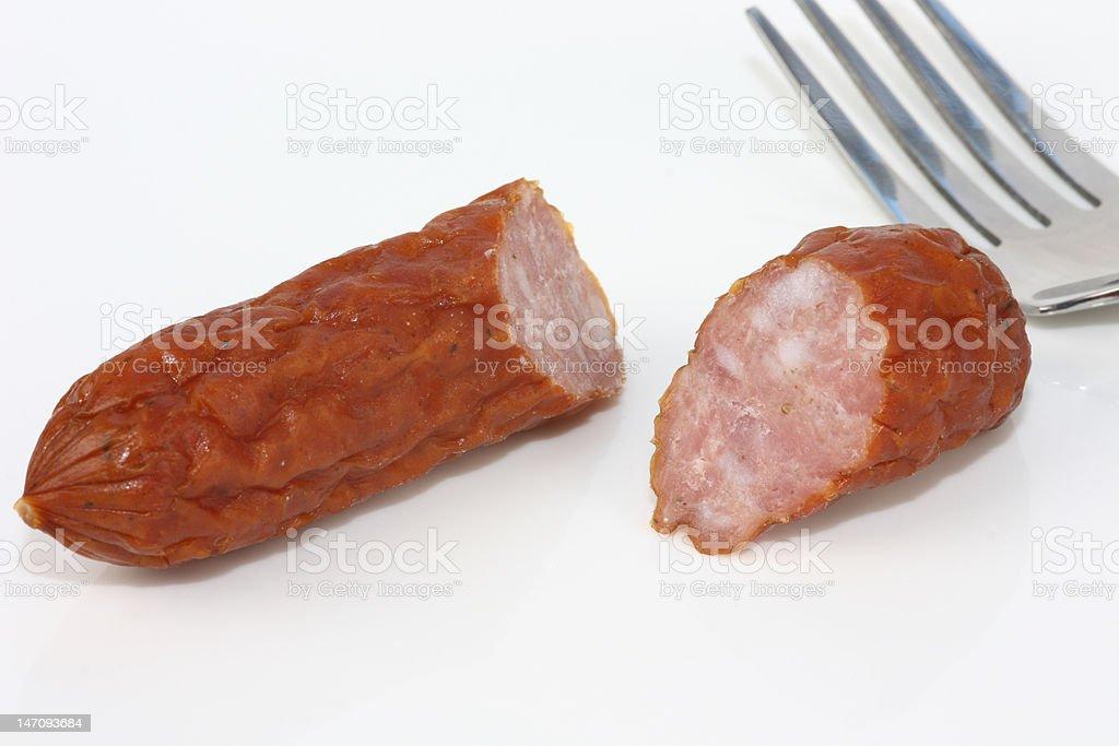 kabana sausage stock photo