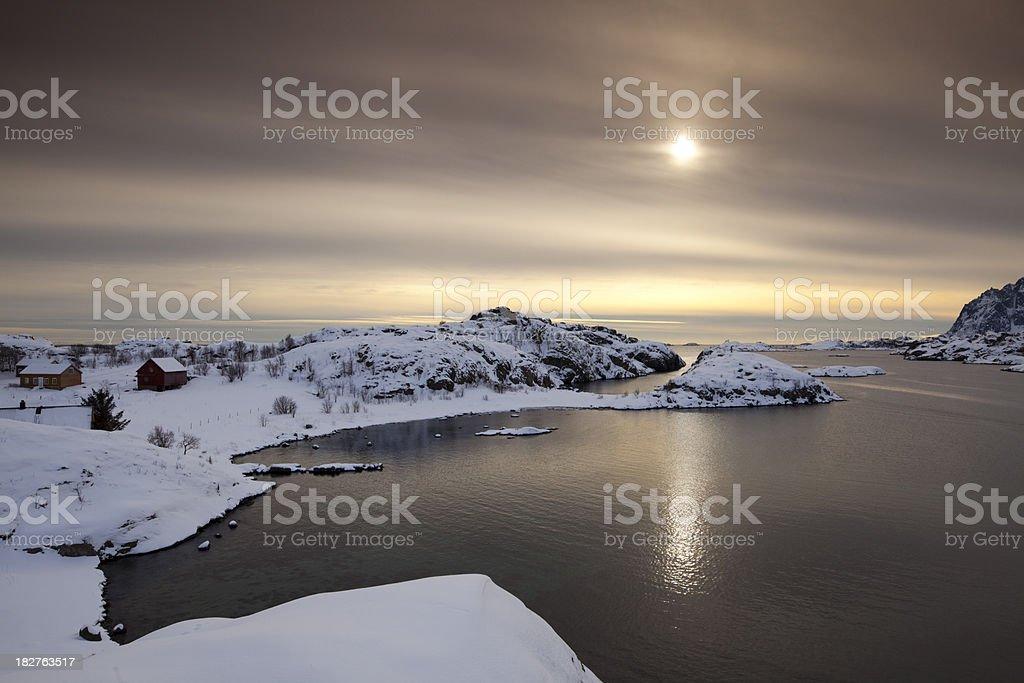 Kabelvag, Lofoten stock photo