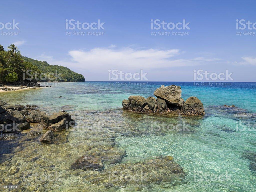 Kabila White Beach stock photo