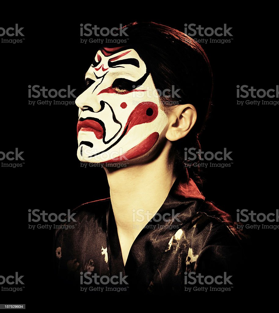kabuki mask royalty-free stock photo