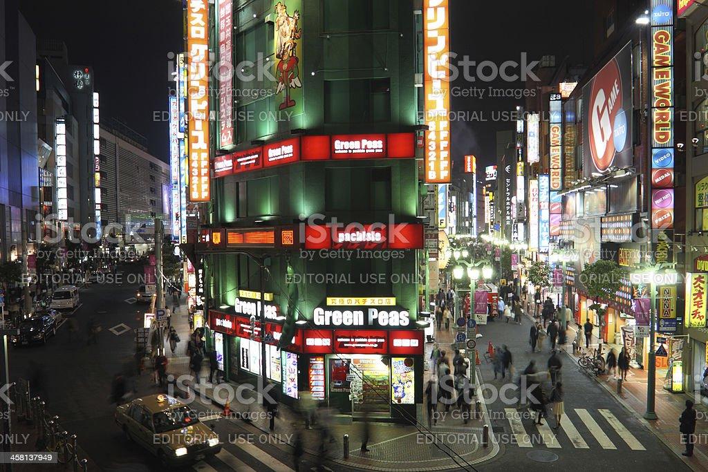 Kabuki-cho, Tokyo's famous district royalty-free stock photo