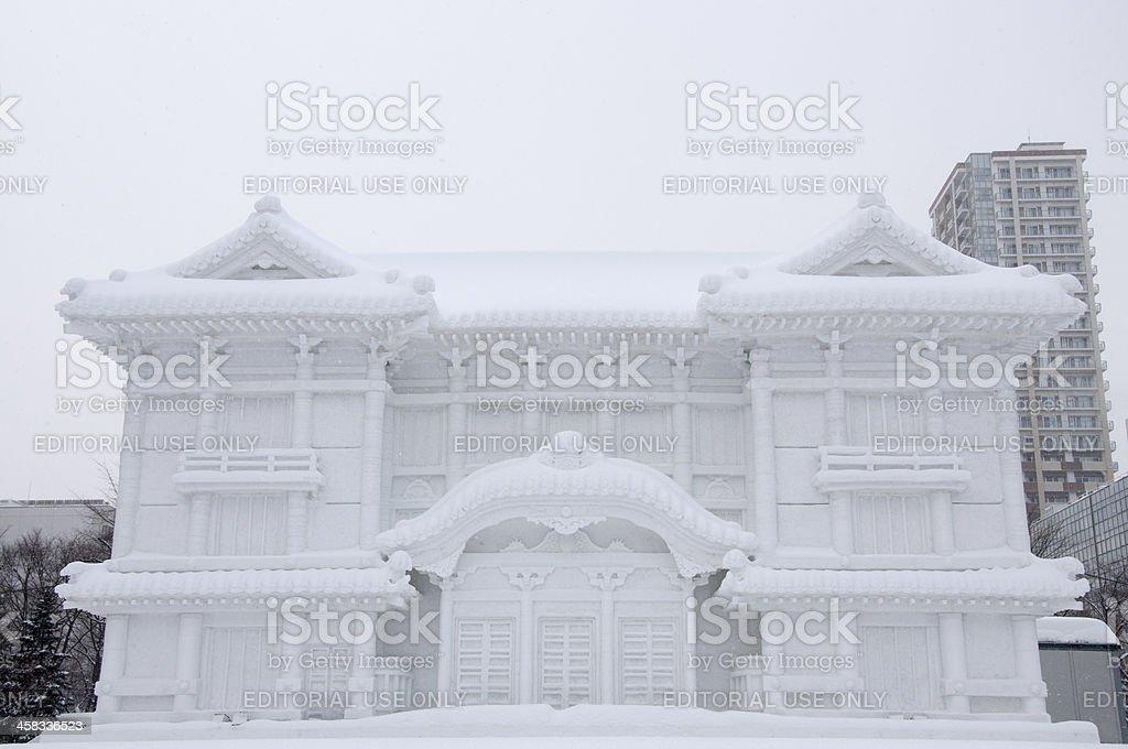 Kabuki-za, Sapporo Snow Festival 2013 royalty-free stock photo