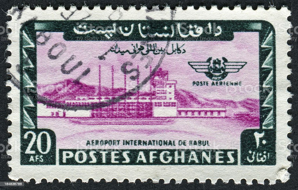 Kabul Airport Stamp royalty-free stock photo