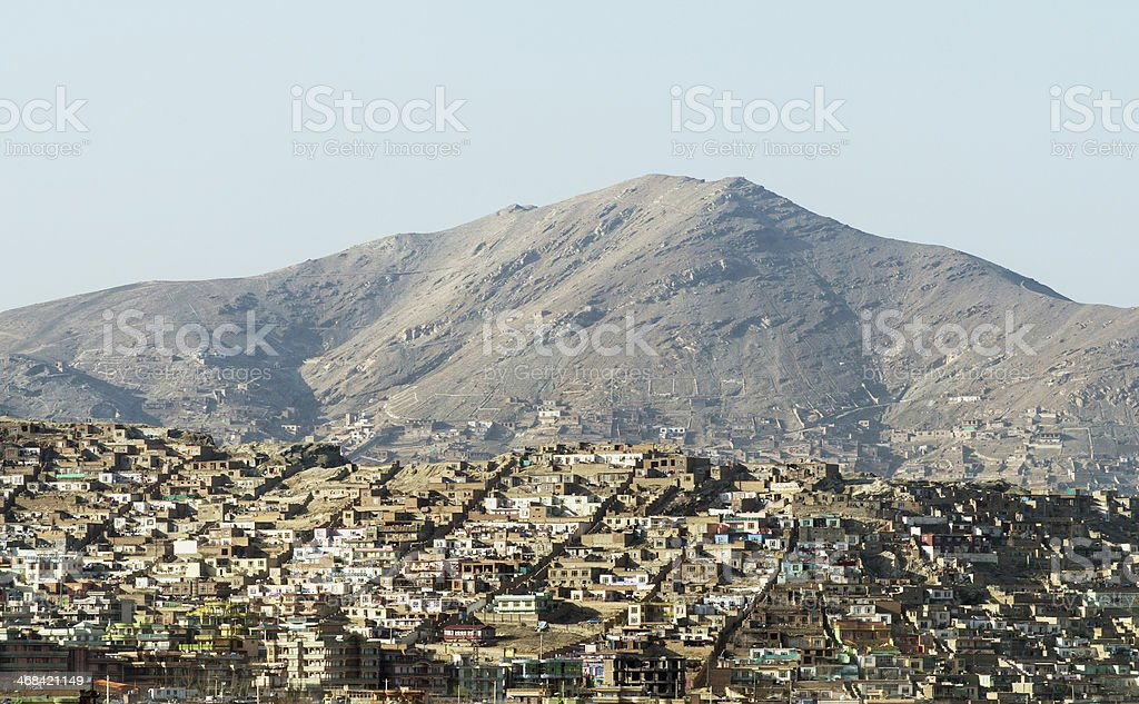 Kabul city view, Afghanistan stock photo