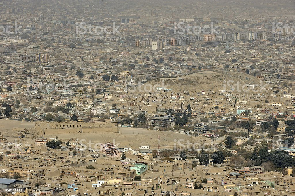 Kabul city view stock photo