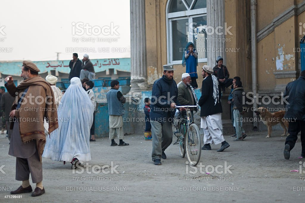 Kabul late afternoon stock photo