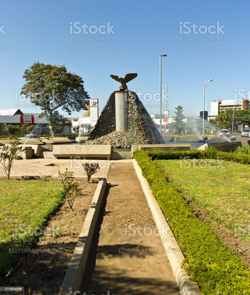 Kabwe Roundabout, Lusaka stock photo