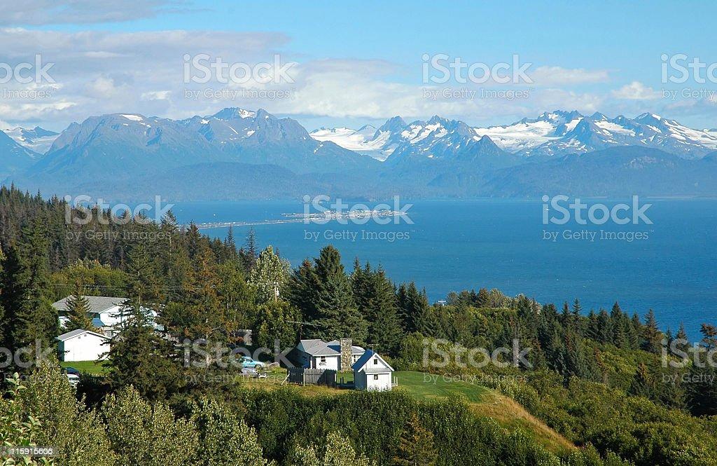 Kachemak Bay on a beautiful day stock photo