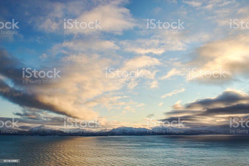 Kachemak Bay Sunset stock photo