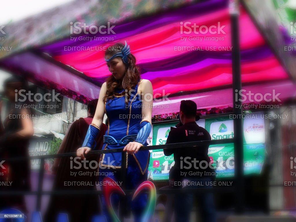 Kadayawan Festival, Kylie Padilla, Davao, Philippines stock photo