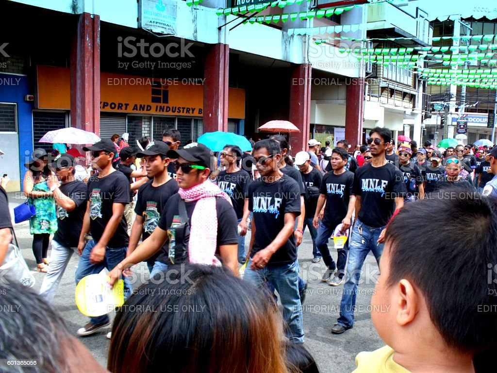 Kadayawan Festival, MNLF, Davao, Philippines stock photo