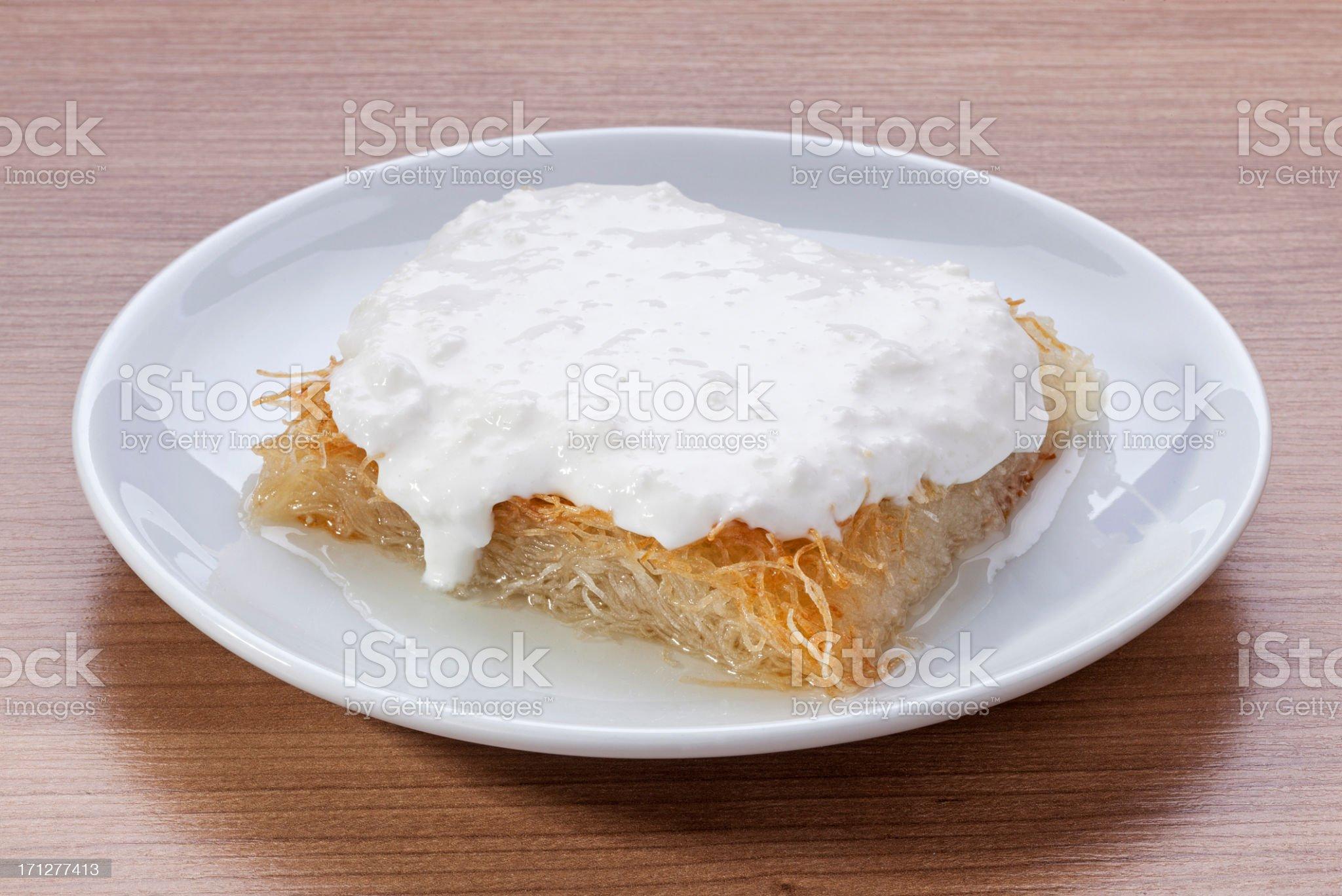Kadayif (Turkish dessert) royalty-free stock photo