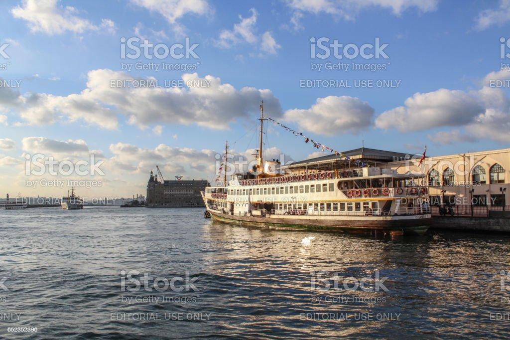 Kadıköy ferry pier, İstanbul, Turkey stock photo
