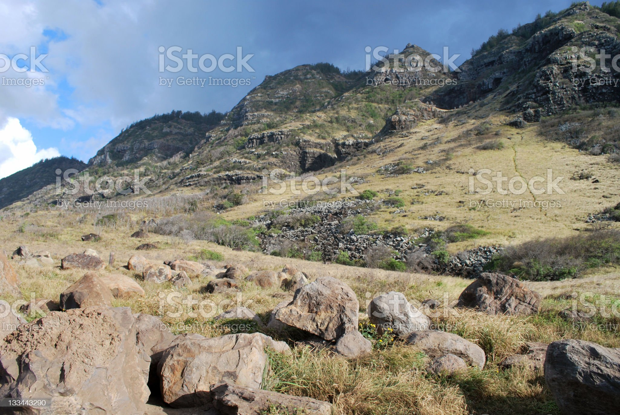 Kaena Point State Park  in  Oahu royalty-free stock photo