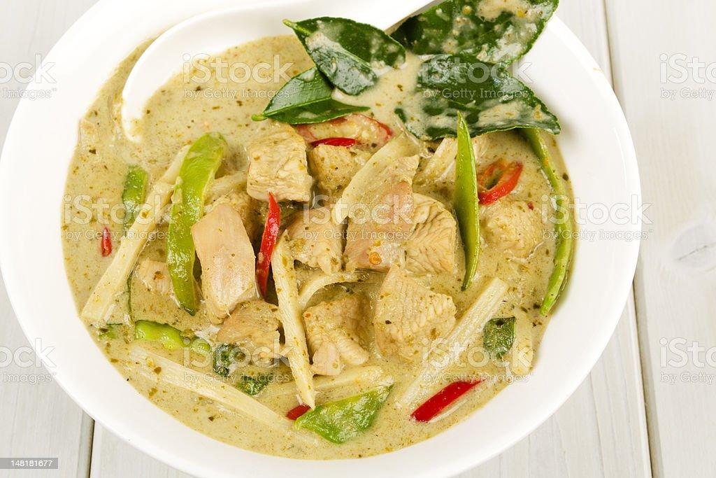 Kaeng Khiao Wan Kai - Thai Green Chicken Curry royalty-free stock photo