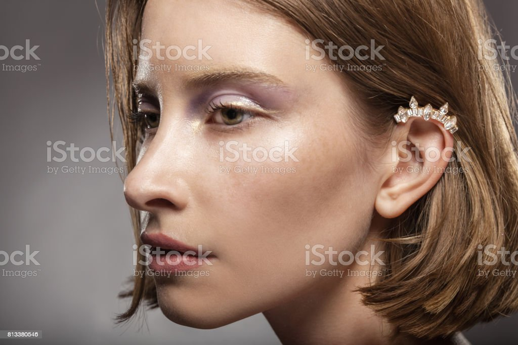 Kaffa in the ear stock photo