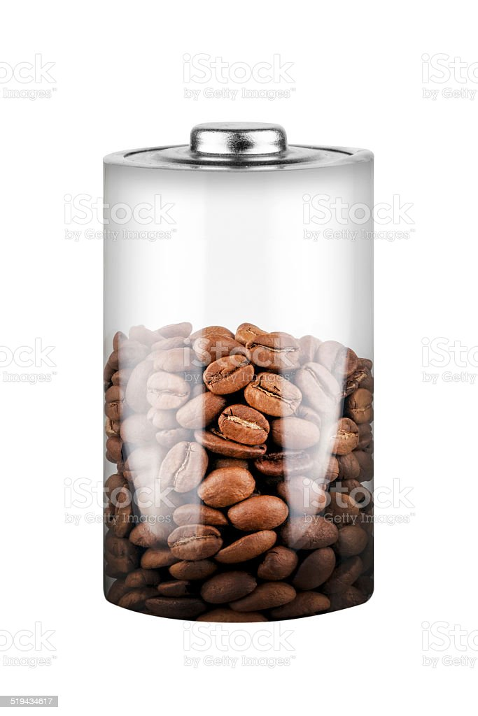 Kaffee Batterie stock photo