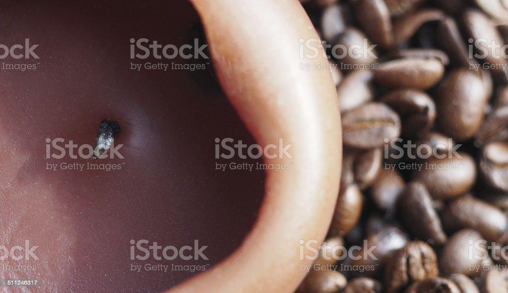 Kaffee & Kerze stock photo