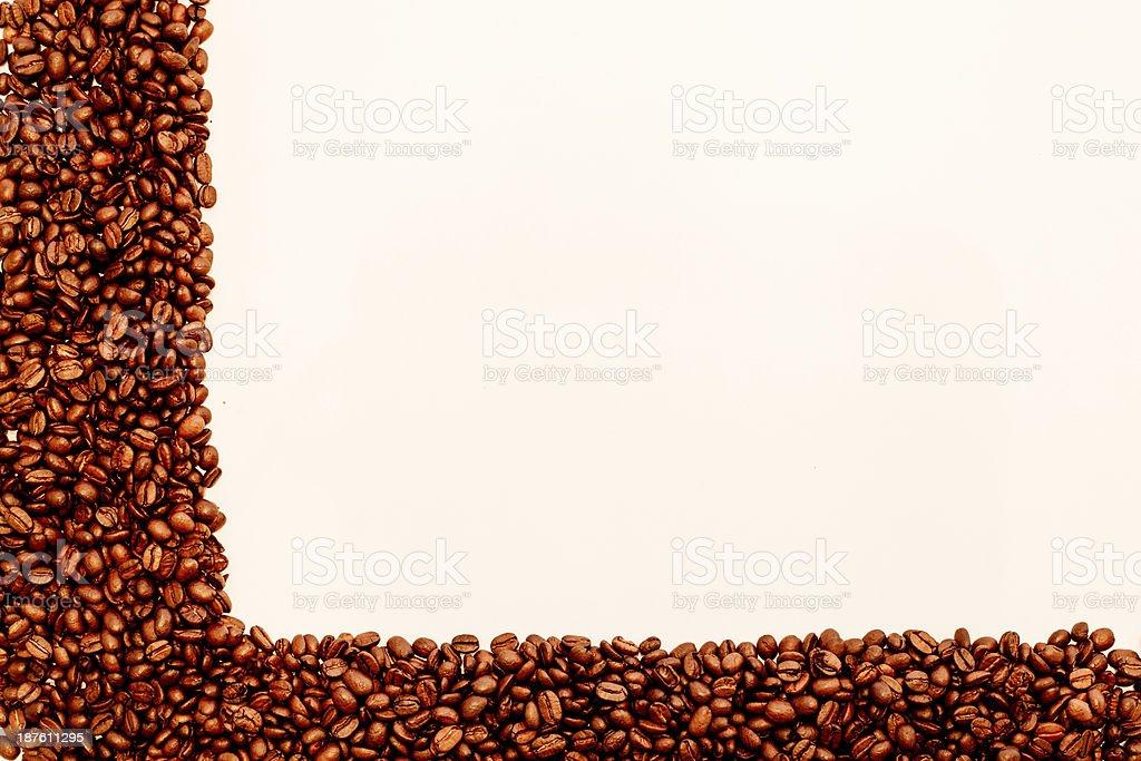 Kaffeebohnen Eck stock photo