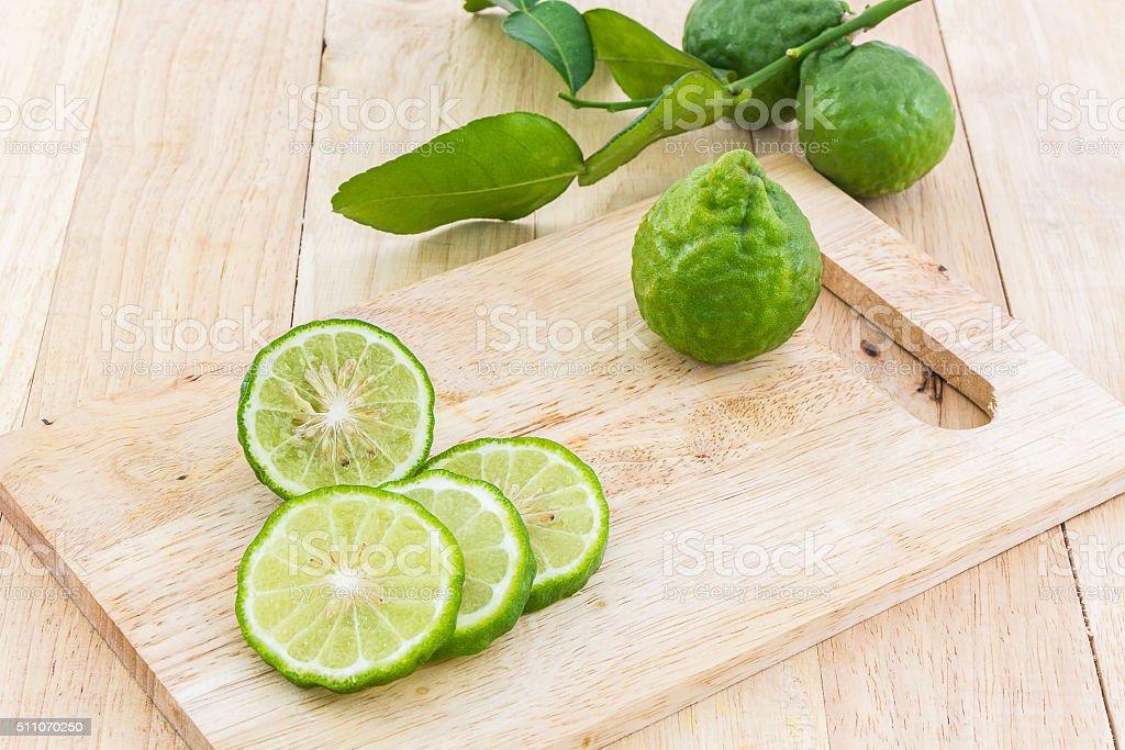 Kaffir Lime (Bergamot). stock photo