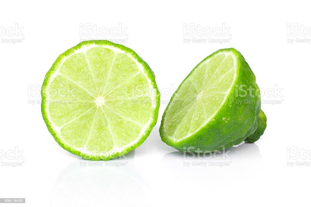 Kaffir lime (Bergamot) stock photo