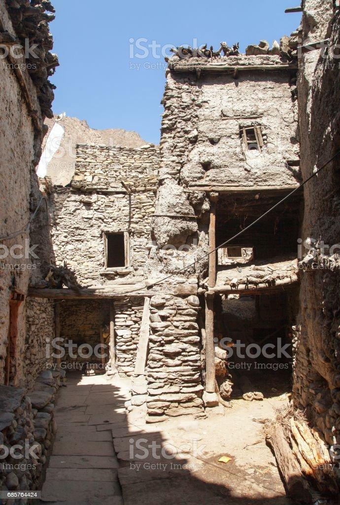 Kagbeni, beautiful village in lower Mustang area stock photo