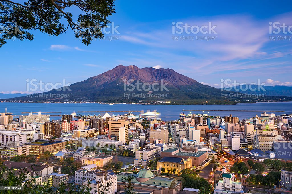 Kagoshima Japan Skyline stock photo