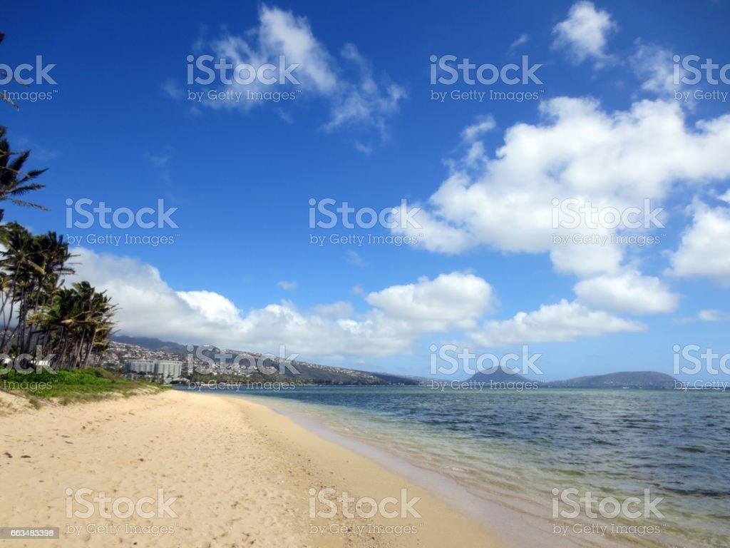 Kahala Beach stock photo