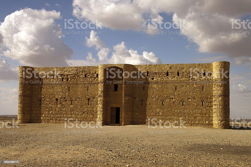 Kaharana desert castle in Jordan royalty-free stock photo