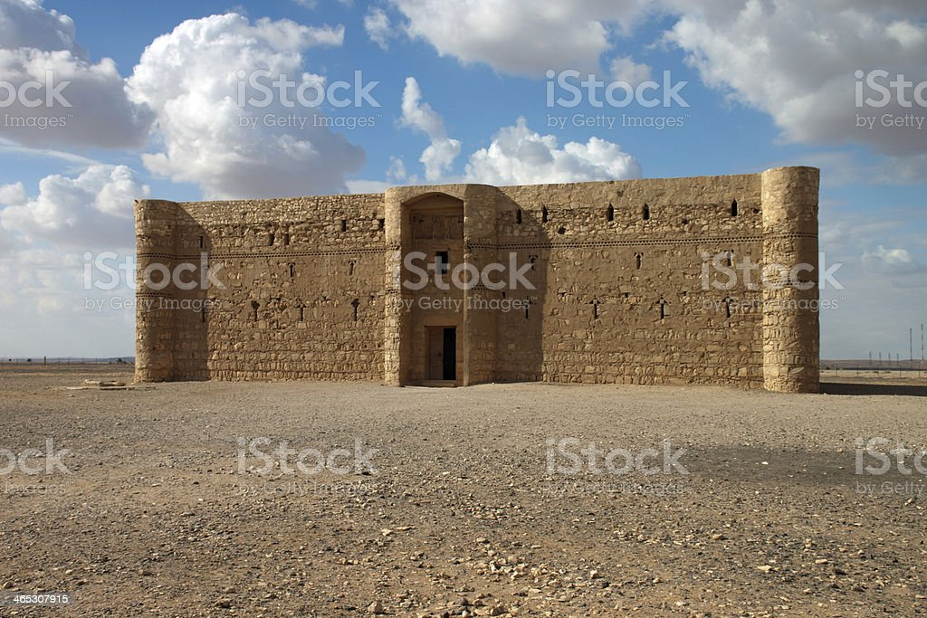 Kaharana desert castle in Jordan royalty-free stock photo