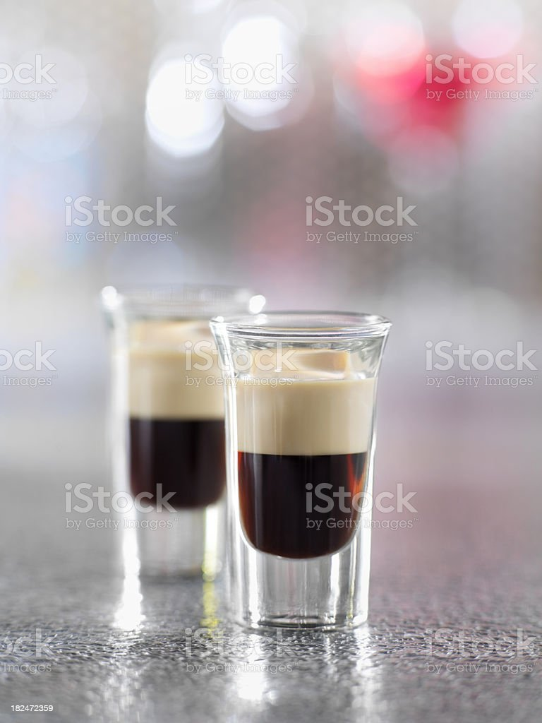 Kahlula and irish Cream Shooters royalty-free stock photo