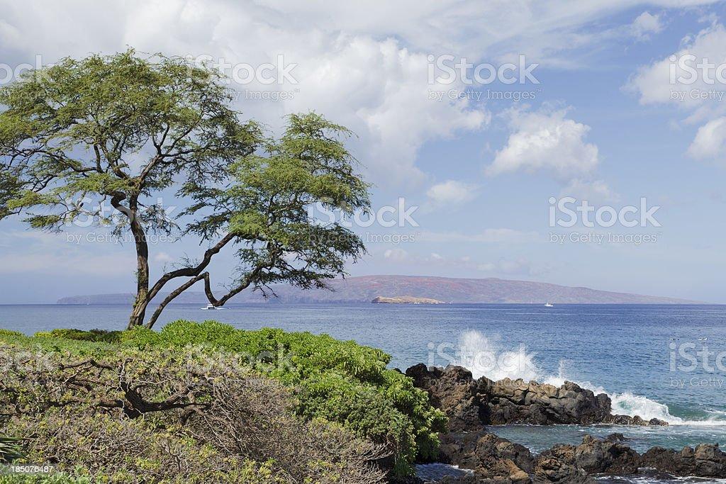 Kahoolawe, Hawaii from South Maui stock photo