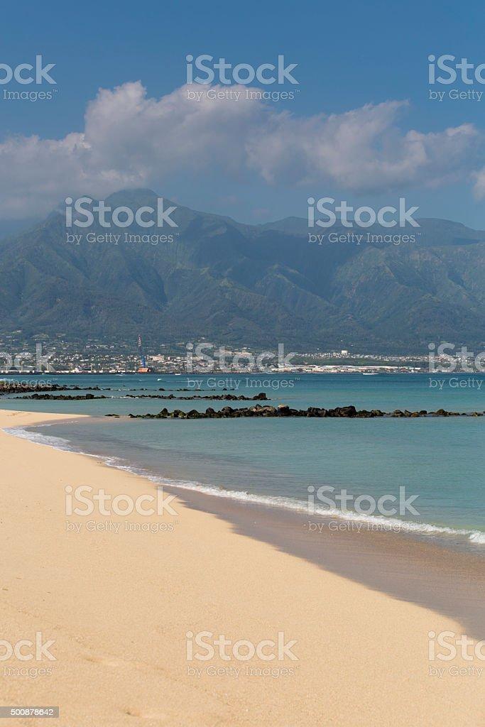 Kahului bay stock photo