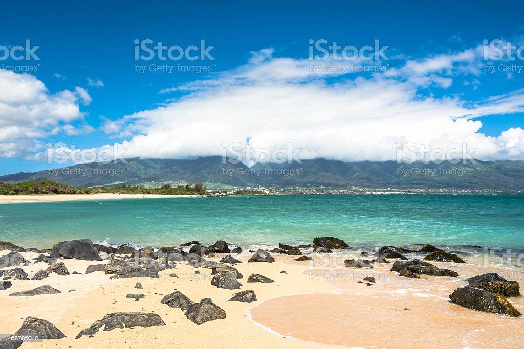 Kahului Beach in Maui, Hawaii stock photo