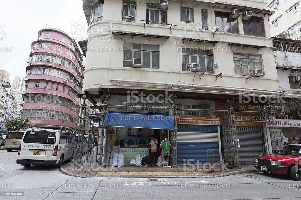 Kai Ming Street 51 in Hong Kong royalty-free stock photo
