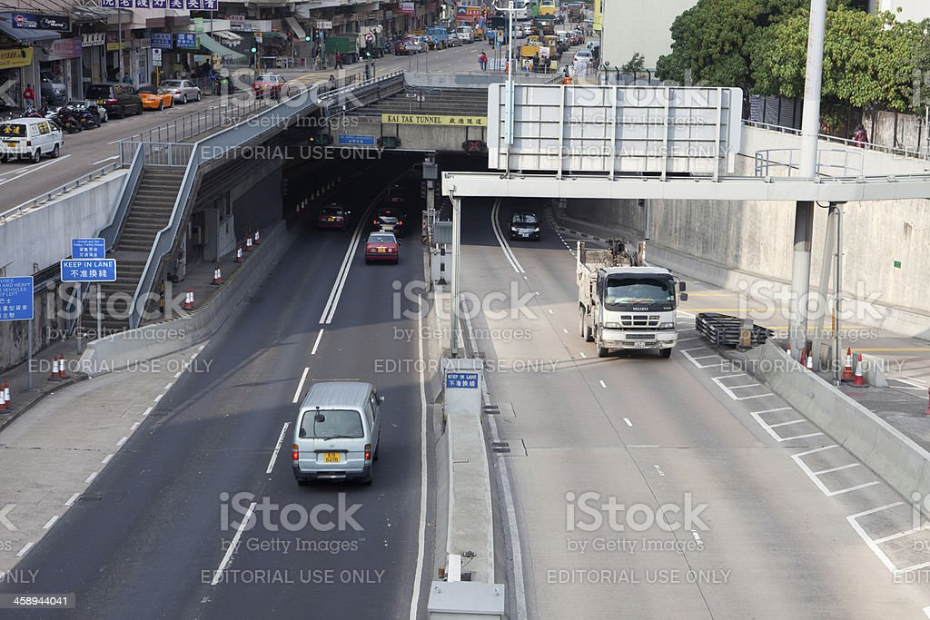 Kai Tak Tunnel royalty-free stock photo