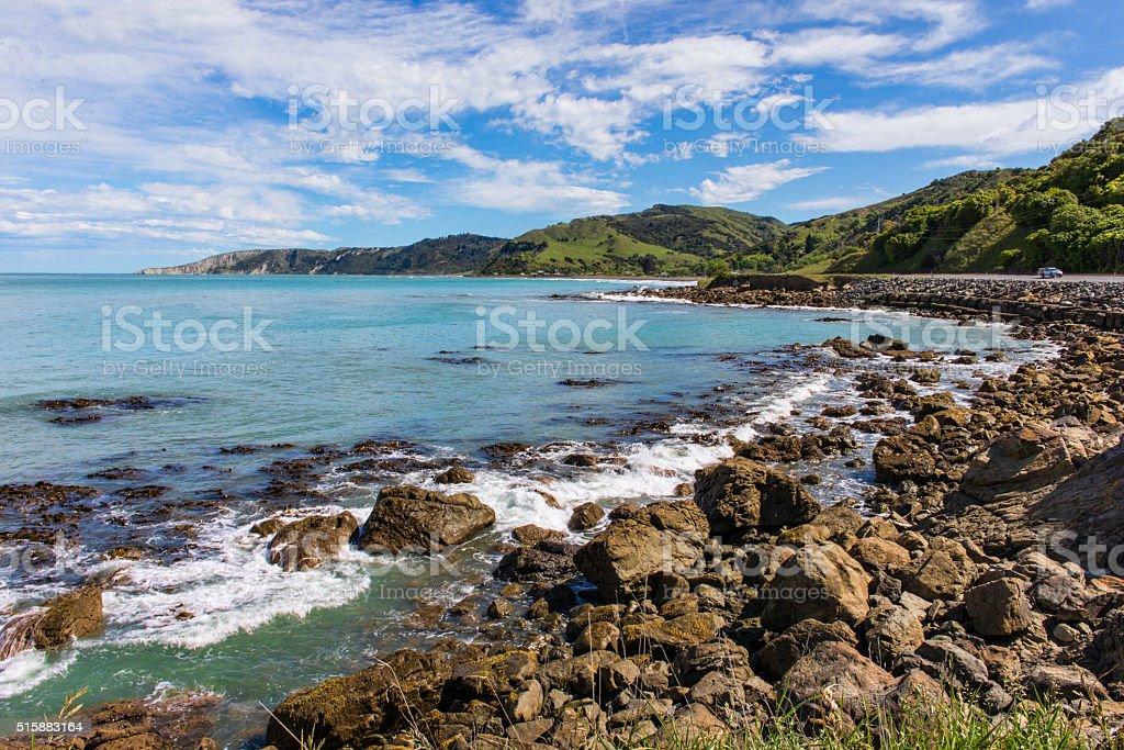 Kaikoura beach stock photo