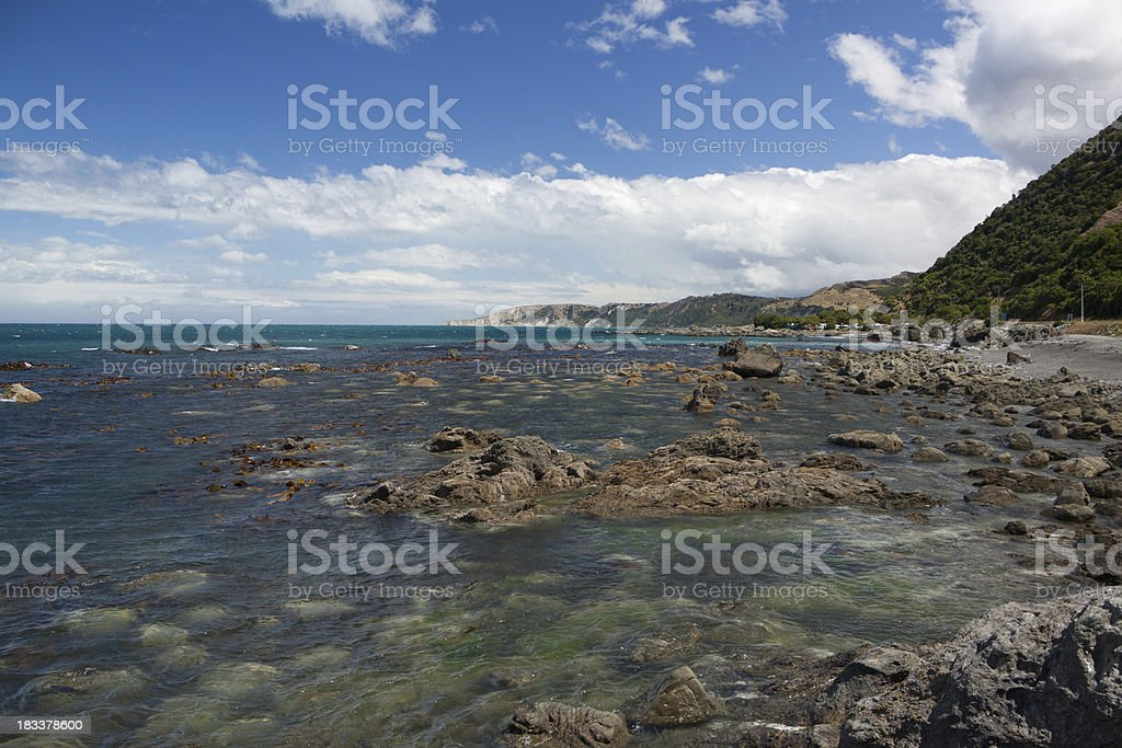 Kaikoura Coastline looking south stock photo