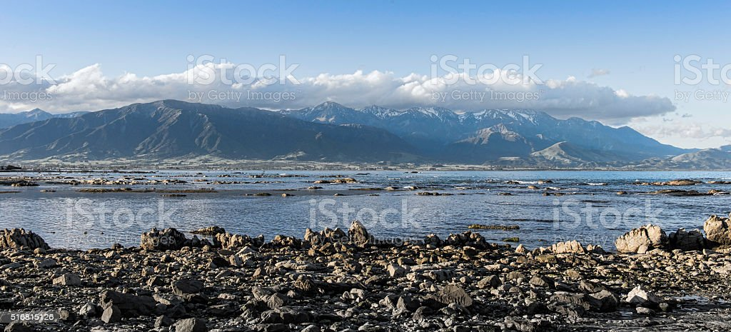 Kaikoura rocks stock photo