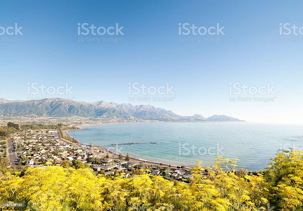 Kaikoura Town Scenic stock photo
