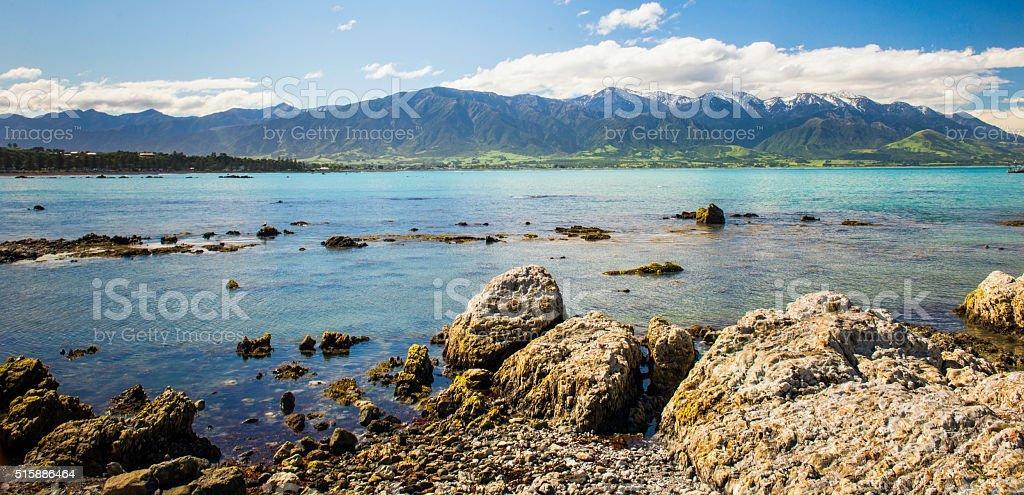 Kaikoura vista stock photo